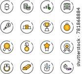 line vector icon set   bitcoin... | Shutterstock .eps vector #781868884