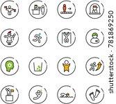 line vector icon set   traffic... | Shutterstock .eps vector #781869250