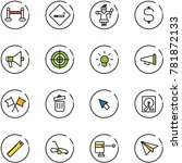 line vector icon set   vip zone ... | Shutterstock .eps vector #781872133