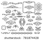set of decorative elements.... | Shutterstock .eps vector #781874428