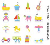toy icons | Shutterstock .eps vector #78187918