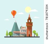modern urban landscape with sky ... | Shutterstock .eps vector #781879204