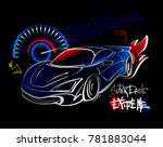 super drive extreme. automobile ... | Shutterstock .eps vector #781883044