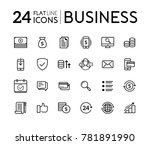 set of line flat icons for... | Shutterstock .eps vector #781891990