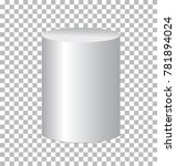 white cylinder isolated on... | Shutterstock .eps vector #781894024