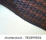 rattan   wicker seamless... | Shutterstock . vector #781899856