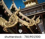 beautiful thai design on the...   Shutterstock . vector #781901500
