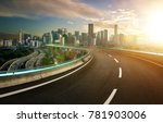 blue neon light design highway...   Shutterstock . vector #781903006
