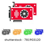 graphic accelerator cards icon. ... | Shutterstock .eps vector #781903120