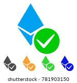valid ethereum crystal icon.... | Shutterstock .eps vector #781903150