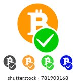 valid bitcoin icon. vector...