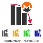 monero falling acceleration... | Shutterstock .eps vector #781903210