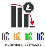 litecoin falling acceleration... | Shutterstock .eps vector #781903258