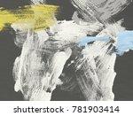 oil painting on canvas handmade.... | Shutterstock . vector #781903414