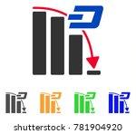 dash falling acceleration chart ... | Shutterstock .eps vector #781904920