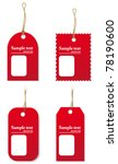 price tags. vector | Shutterstock .eps vector #78190600