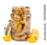 preserved chanterelles isolated ... | Shutterstock . vector #781906840