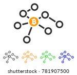bitcoin network nodes icon.... | Shutterstock .eps vector #781907500