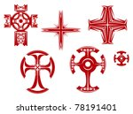 set of religious crosses and... | Shutterstock .eps vector #78191401