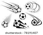 football and soccer symbols ... | Shutterstock .eps vector #78191407