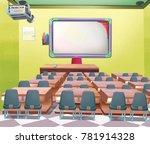calss room illustration | Shutterstock . vector #781914328