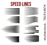 speed lines black for manga and ... | Shutterstock .eps vector #781914874