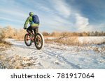 riding a fat mountain bike in... | Shutterstock . vector #781917064
