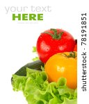 fresh vegetable isolated on... | Shutterstock . vector #78191851