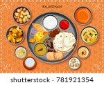 illustration of traditional... | Shutterstock .eps vector #781921354
