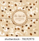 vector background with coffee   ... | Shutterstock .eps vector #78192973