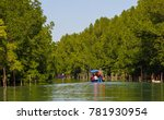 Small photo of Travel along mangrove forest