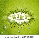 vector kiwi background with... | Shutterstock .eps vector #78193108