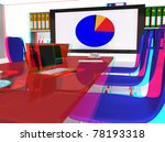 3d conference room with desk ...   Shutterstock . vector #78193318