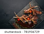 baked rib grilled. mutton.... | Shutterstock . vector #781936729