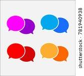 speech bubble icon vector | Shutterstock .eps vector #781940938