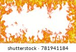 fire flames on white background | Shutterstock . vector #781941184