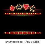 gold card symbols over place... | Shutterstock .eps vector #78194386