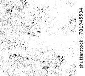 grunge black and white pattern. ... | Shutterstock . vector #781945534