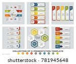 collection of 6 design colorful ... | Shutterstock .eps vector #781945648