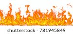 fire flames isolated on white... | Shutterstock . vector #781945849