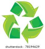 recycle symbol | Shutterstock .eps vector #78194629