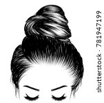 hand drawn beauty woman with...   Shutterstock .eps vector #781947199