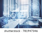 digital business interface on... | Shutterstock . vector #781947346