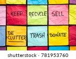 declutter concept  keep ... | Shutterstock . vector #781953760