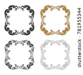 classical baroque vector set of ... | Shutterstock .eps vector #781955344