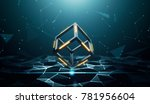 blockchain technology with... | Shutterstock . vector #781956604