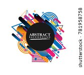 abstract geometric design... | Shutterstock .eps vector #781958758