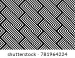 design seamless monochrome... | Shutterstock .eps vector #781964224