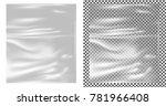 realistic transparent plastic... | Shutterstock .eps vector #781966408