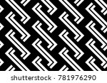 design seamless monochrome... | Shutterstock .eps vector #781976290